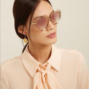 Chloe sunglasses heart shaped